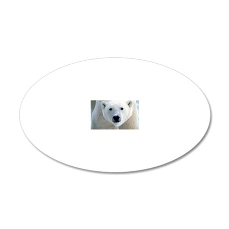 Polar bear 20x12 Oval Wall Decal