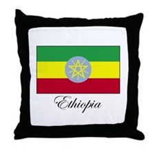 Ethiopia - Ethiopian Flag Throw Pillow