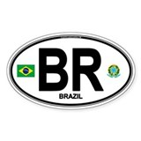 Brazil Intl Oval Oval Decal