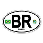 Brazil Intl Oval Oval Sticker