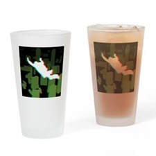 3D Freefall Skyline 1 Icon (Black B Drinking Glass
