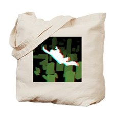 3D Freefall Skyline 1 Icon (Black BG) Tote Bag