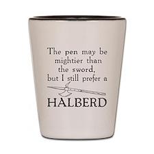 Halberd Black Shot Glass