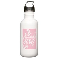 Pink and White Floral  Water Bottle