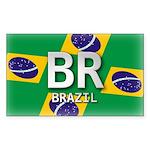 Brazil Pride Rectangle Sticker
