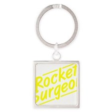Rocket Surgeon Square Keychain