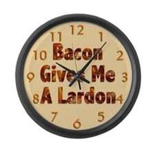 Bacon Lardon Large Wall Clock