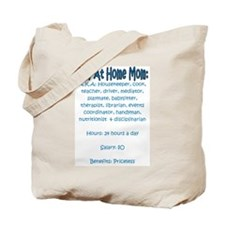 Stay At Home Mom (JD) Tote Bag
