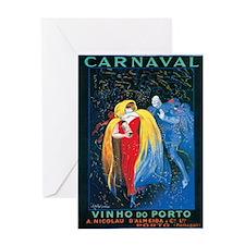 Vintage Carnival Print Greeting Card