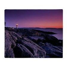 LIGHTHOUSE ON MARSHALL POINT, PORT C Throw Blanket