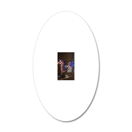 Brandie 20x12 Oval Wall Decal