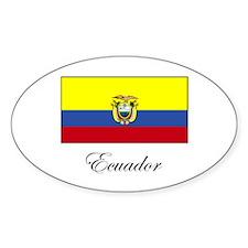 Ecuador - Flag Oval Decal