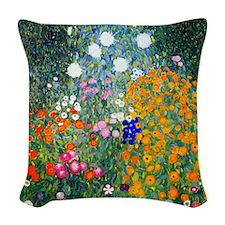 Klimt Woven Throw Pillow