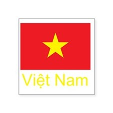 "Vietnam Flag Square Sticker 3"" x 3"""