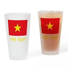 Vietnam Flag Drinking Glass