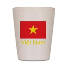 Vietnam Flag Shot Glass