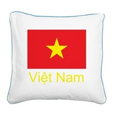 Vietnam Flag Square Canvas Pillow