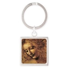Leonardo Da Vinci La Scapigliata Square Keychain