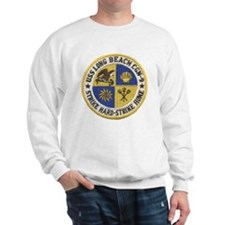 uss long beach patch transparent Sweatshirt