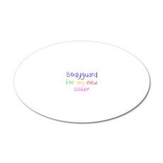 Bodyguard 20x12 Oval Wall Decal