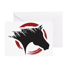 Crow Dog Farm Horse Head Greeting Card