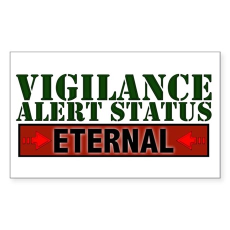 Vigilance Alert Status Rectangle Sticker
