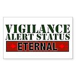 Vigilance Alert Status Rectangle Sticker