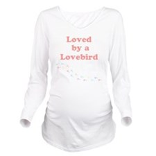 Loved by a Lovebird Long Sleeve Maternity T-Shirt