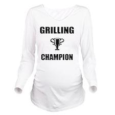 grilling champ Long Sleeve Maternity T-Shirt