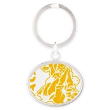 MACP Fighter Gold Oval Keychain