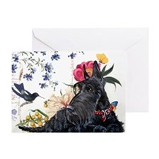 Scottish Terrier Hummingbird Greeting Card