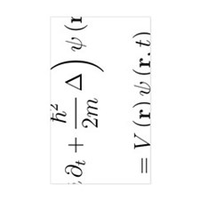 Schrodinger equation, delta, w Decal