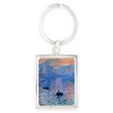 Monet Sunrise Portrait Keychain