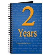 2 Years Recovery Slogan Birthday Card Journal