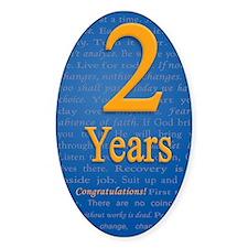 2 Years Recovery Slogan Birthday Ca Decal