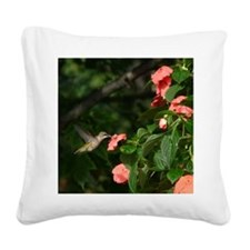 Hummingbird Square Canvas Pillow