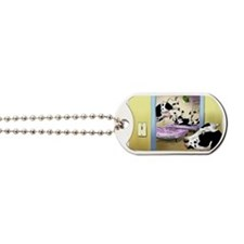 Bedtime For Baby Cows Dog Tags