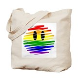 Gay Pride Happy Face Tote Bag