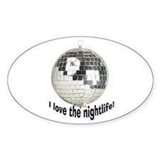 Disco Ball Oval Decal