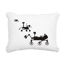 Mars Rovers Rectangular Canvas Pillow