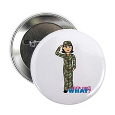 "Army Woodland Camo 2.25"" Button"