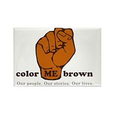 color Me Brown regular logo Rectangle Magnet