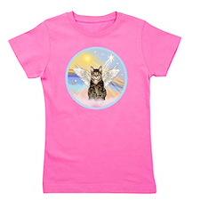 Clouds - Tabby cat angel Girl's Tee