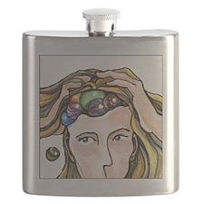 Whoops! (black border) Flask