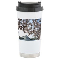 Peal bloom cherry blossom frame Ceramic Travel Mug