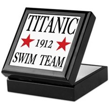 SwimTeam12x12TRANS Keepsake Box