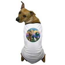 St Francis - Siamese Cat (Lilac Pt) Dog T-Shirt