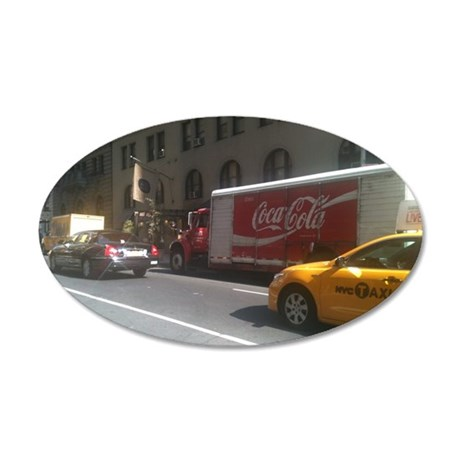 Coke at City Center 35x21 Oval Wall Decal
