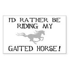 Rather-Gaited Horse Rectangle Decal