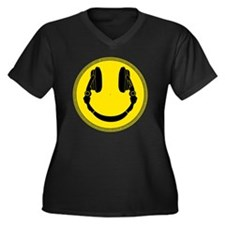 DJ Smiley He Women's Plus Size Dark V-Neck T-Shirt